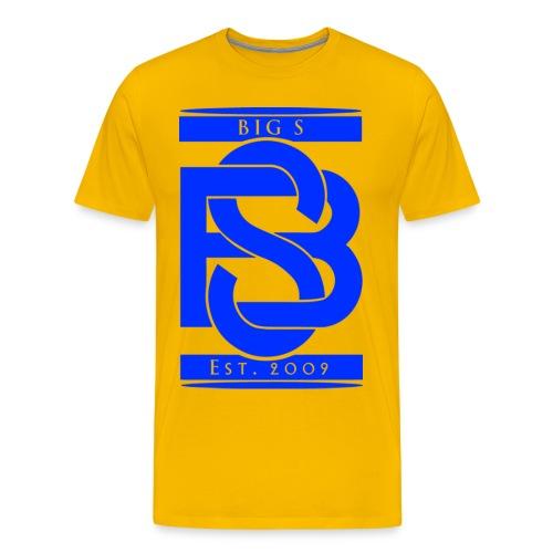 Big S LOGO Blue - Männer Premium T-Shirt