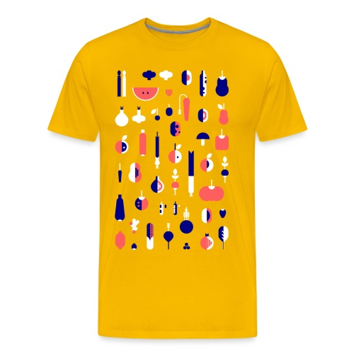 Gemüse Blau Hochformat - Männer Premium T-Shirt