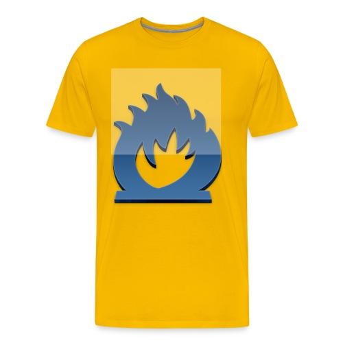fuoco blu - Maglietta Premium da uomo