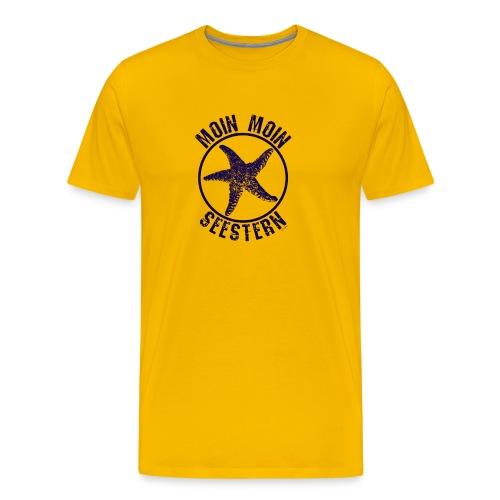 Moin Moin Seestern Plattdeutsch Norden Spruchshirt - Männer Premium T-Shirt