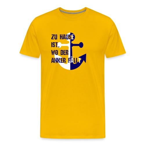 Anker Maritim Plattdeutsch Norden Spruchshirt - Männer Premium T-Shirt