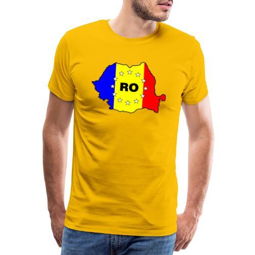 Rumänien-Karte mit EU-Sternen - Männer Premium T-Shirt