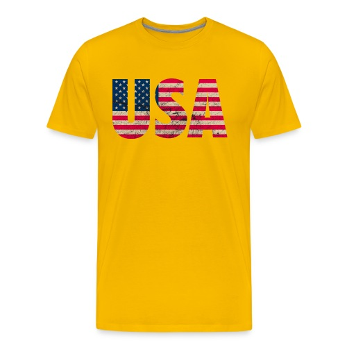 USA Amerika Stars and Stripes Used Look - Men's Premium T-Shirt