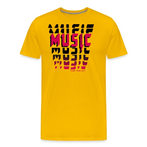 Music is all i need - Männer Premium T-Shirt