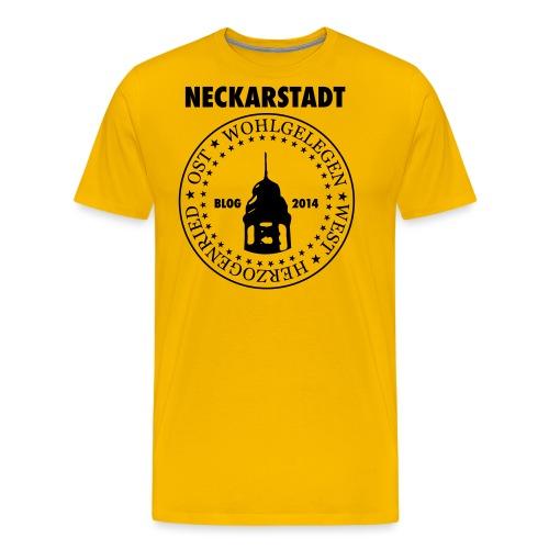 Neckarstadt Blog seit 2014 (Logo dunkel) - Männer Premium T-Shirt