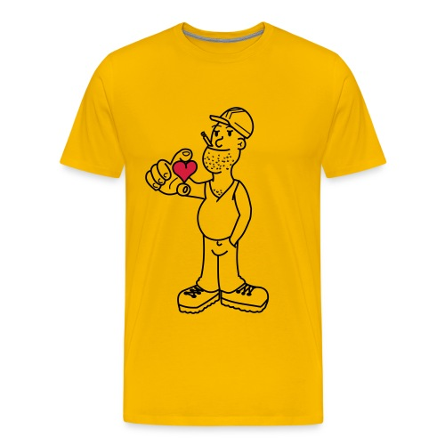 Valentinstag Bauarbeiter - Männer Premium T-Shirt