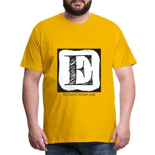 Logo ErrareUmano (scritta nera) - Maglietta Premium da uomo