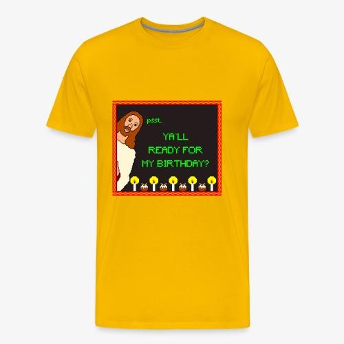 Jesus Geburtstagsparty Ugly Christmas - Männer Premium T-Shirt
