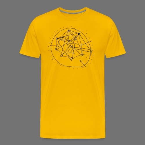 SEO strategia No.1 (musta) - Miesten premium t-paita