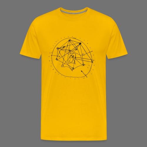 SEO-strategie No.1 (zwart) - Mannen Premium T-shirt