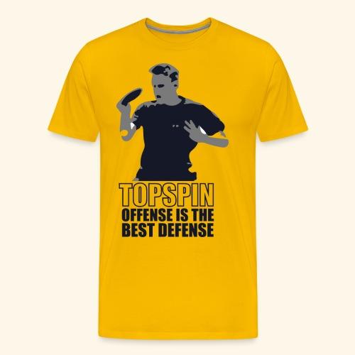 Good slashing serve table tennis - Männer Premium T-Shirt