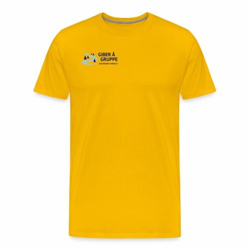 Lille logo forside - Herre premium T-shirt