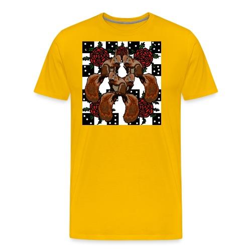 Cute Squirrels - Herre premium T-shirt