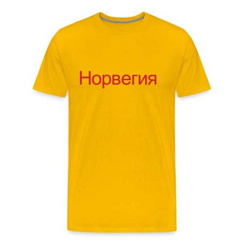 Норвегия - Russisk Norge - plagget.no - Premium T-skjorte for menn