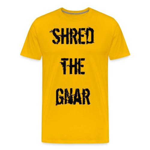 Shred the Gnar - Men's Premium T-Shirt