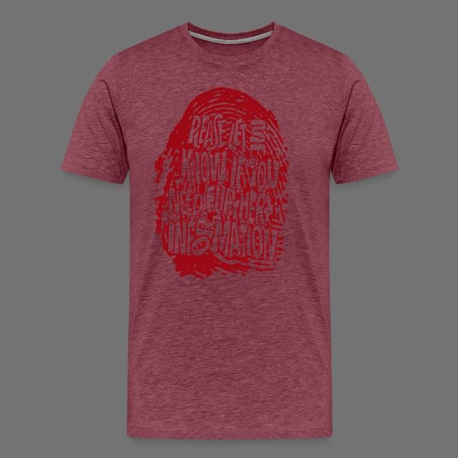 DNA, odcisków palców (czerwony)