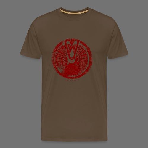 Maschinentelegraph (punainen oldstyle) - Miesten premium t-paita