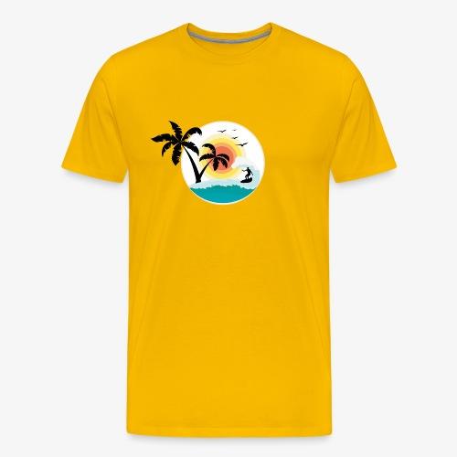 Surfing in paradise - Männer Premium T-Shirt