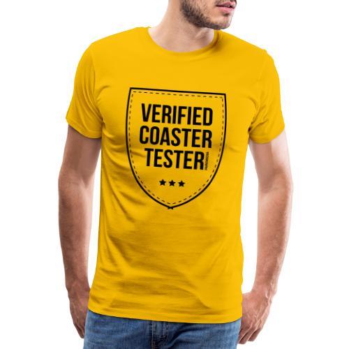 Badge de testeur de montagnes russes vérifié - T-shirt Premium Homme