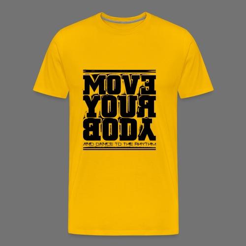 Bevæg din krop (sort) - Herre premium T-shirt