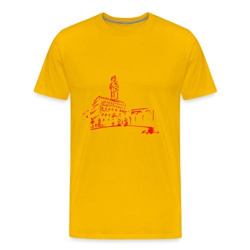 FIRENZE, PIAZZA DELLA SIGNORIA, PALAZZO VECCHIO - Maglietta Premium da uomo