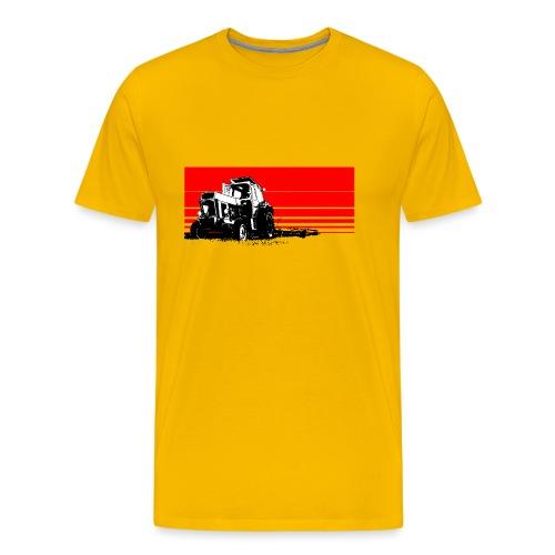 Sunset tractor - Maglietta Premium da uomo