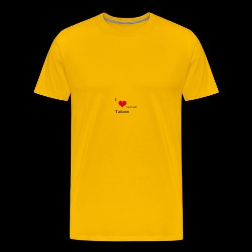 I love Girls with Tattoos - Männer Premium T-Shirt