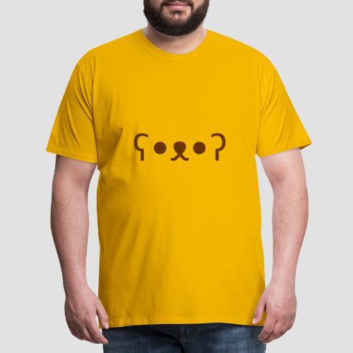 Kuma Kaomoji (Marron) - T-shirt Premium Homme