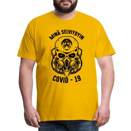 COVID-19, minä selviydyin - Miesten premium t-paita