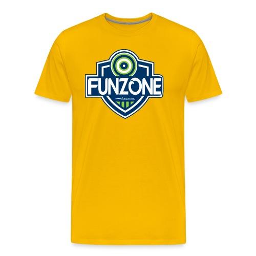 Funzone_logo_ljus_bakgrund - Premium-T-shirt herr