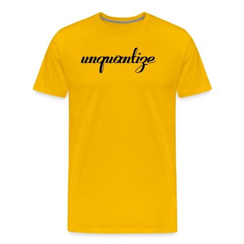 unquantize black logo - Men's Premium T-Shirt
