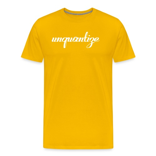 unquantize white logo - Men's Premium T-Shirt