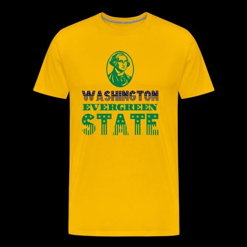 WASHINGTON EVERGREEN STATE - Men's Premium T-Shirt