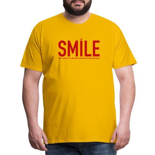 smile red star - Männer Premium T-Shirt