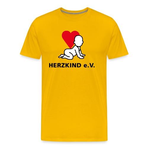 Herzkind Logo Wort Bildmarke ohne Unterzeile PFADE - Männer Premium T-Shirt