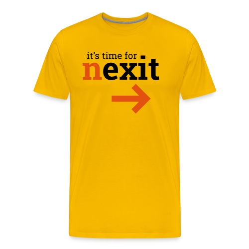 its time for nexit logo in zwart oranje - Mannen Premium T-shirt
