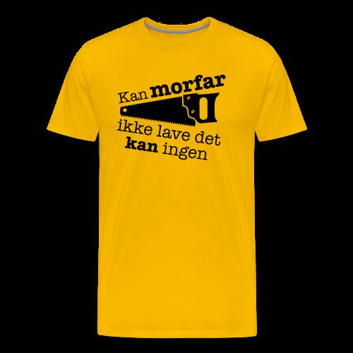 Morfar med saven - Herre premium T-shirt