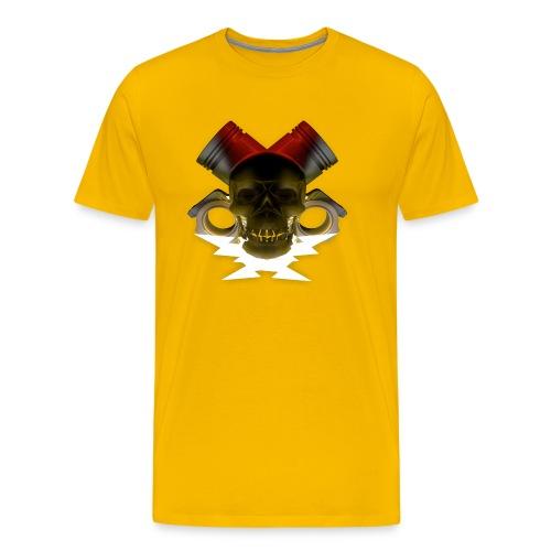 crane pistonné eclair - T-shirt Premium Homme