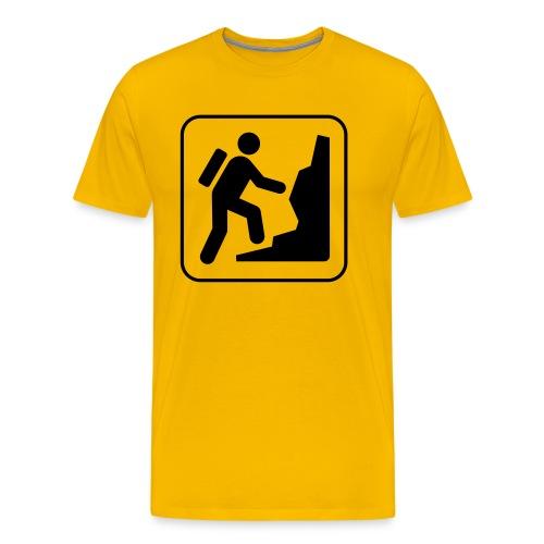 Bergwandern_logo - Männer Premium T-Shirt
