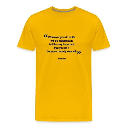 gandhi - T-shirt Premium Homme
