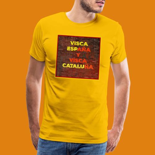 SPAIN AND CATALONIA - Men's Premium T-Shirt