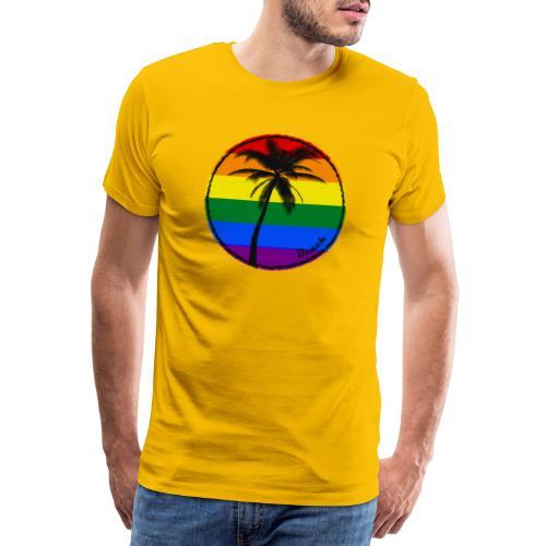 Beach sunny rainbow - Koszulka męska Premium