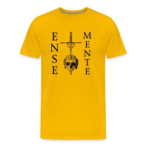 Ense et Mente Logo Black - Premium T-skjorte for menn