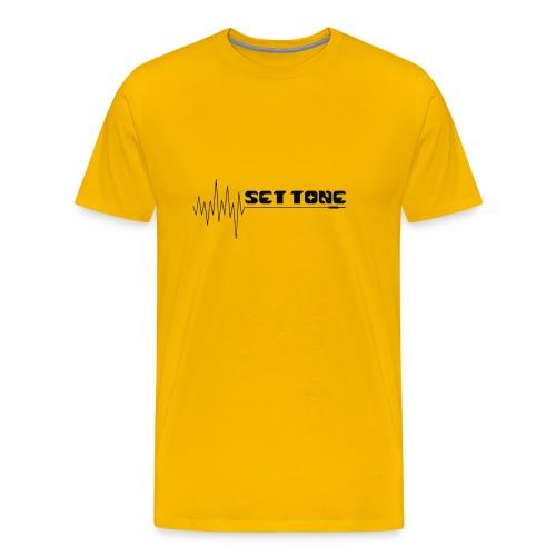 logo zwart set tone 300dpi - Mannen Premium T-shirt