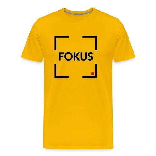 Fokus - Schwarz - Männer Premium T-Shirt
