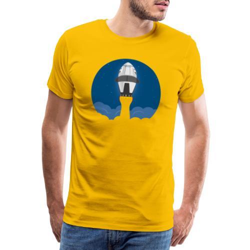 Falcon 9 Rakete mit Astronauten zur ISS im Weltall - Männer Premium T-Shirt