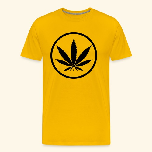 Hemp leaf hemp cannabis 420 gift - Men's Premium T-Shirt