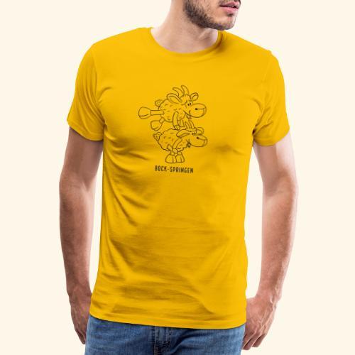 Schafbock: Bock springen - schwarz - Männer Premium T-Shirt