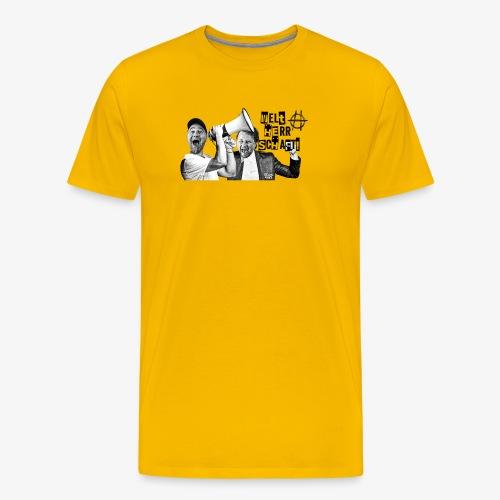 202001 Hossatalk Sticker Weltherrschaft - Männer Premium T-Shirt