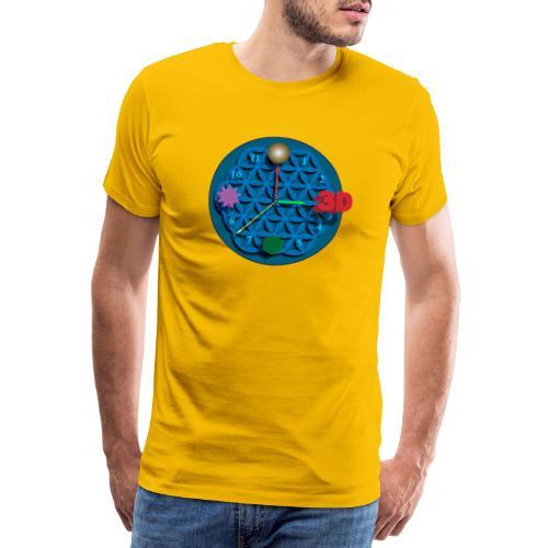 3D o'clock - with models, Vector design. - Men's Premium T-Shirt